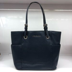 Michael Kors Navy East West Pocket Tote